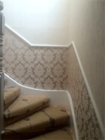 Stairs & Hallway Wallpapering